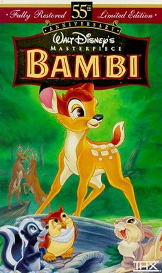 Bambi (Fully Restored 55th Anniversary Limited Edition) (Walt Disney's Masterpiece) [VHS] $2.48