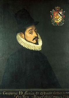 Gaspar de Zúñiga, Count of Monterrey, Viceroy of 'New Spain', The Spanish Empire in the Americas, unknown painter & date.