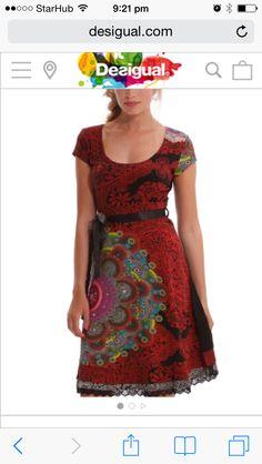 Desigual dress Jurken Met Korte Mouwen, Gebreide Jurk, Kus, Vrouw Kleedt,  Vrouwelijke e39f0d116771