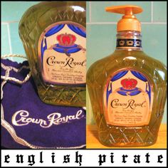 Crown Royal Soap Dispenser Upcycled Bottle by englishpirate, $25.00