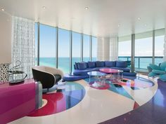 AuBergewohnlich Luxus Penthaus, Moderne Wohnzimmer, Wohnräume, Coole Sofas, Kartoffel,  Wohnungseinrichtung, Innenräume