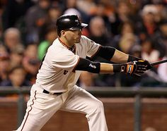 Sept 22-with the Dodger loss today, the magic number to clinch the division was down to 1. The Padres scored a run in the the top of the 1st, but the GIANTS came right back in the bottom of the 1st and scored 2. Scutaro continued his hitting streak, Belt went yard and Bumgarner was great through 5 2/3. Pablo made a highlight reel play, flipping over the fence and coming up ith the ball, all while blowing a bubble. Final score: GIANTS 8, Padres 4.     The GIANTS CLINCH THE NL WEST!!!