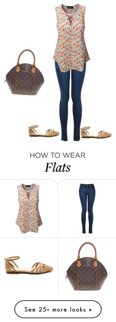"""""""Untitled #551"""" by martinmel-mlm on Polyvore featuring LE3NO and Louis Vuitton"""