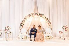 Shahbaz + Rumsha's Elegant Wedding Reception – Photography by Azra – Diy Wedding 2020 Wedding Backdrop Design, Wedding Stage Design, Wedding Hall Decorations, Wedding Reception Backdrop, Wedding Mandap, Wedding Receptions, Wedding Entrance, Magical Wedding, Elegant Wedding