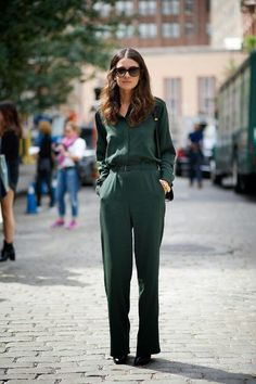 Jumpsuit. Deep Green.