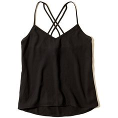 Hollister Women's Must-Have Easy Woven Solid Color Cami (685 DOP) ❤ liked on Polyvore featuring intimates, camis and tops