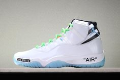 ab3dc9f85f00fe Buy Custom Off-White X Air Jordan 11 White Legend Blue Black Green Outlet  from Reliable Custom Off-White X Air Jordan 11 White Legend Blue Black  Green ...