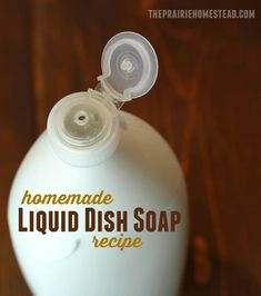 Homemade Liquid Dish Soap homemade liquid dish soap recipe-- I tried a bazillion different recipes before finally creating this one that is the perfect consistency! Homemade Cleaning Supplies, Cleaning Recipes, Soap Recipes, Cleaning Hacks, Homemade Products, Cleaning Grease, Deep Cleaning Tips, House Cleaning Tips, Natural Cleaning Products