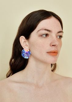 Jewelry Findings, Jewelry Art, Jewelry Accessories, Druzy Jewelry, Poses Modelo, Face Drawing Reference, 3 4 Face, Statement Earrings, Stud Earrings