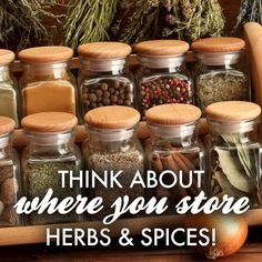 Quick Tip: Keep spices in a cool, dry place. Storing them above the oven or in direct sunlight accelerates flavor loss.