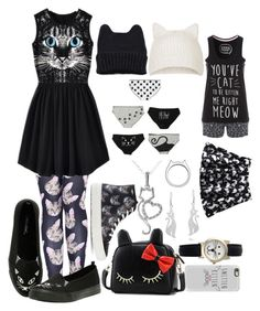 """""""Cats"""" by trinityhuckaby ❤ liked on Polyvore featuring Topshop, Casetify, Markus Lupfer, BeiBaoBao, Geneva, kiz&Co. and AeraVida"""