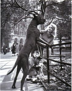 This is an image of Jayne Mansfield and her first born, Jayne Marie Mansfield, in New York City.