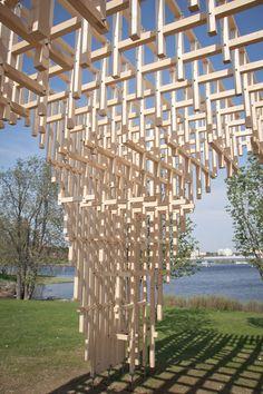 Galería - Pabellón HILA / Proyecto Digiwoodlab   Estudiantes de la Universidad de Oulu - 61