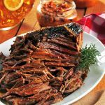 hickory smoked brisket (crock pot).