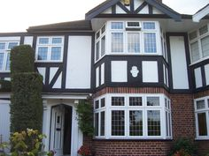 Bay Windows with Square Leaded Glass