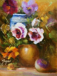 Pansies are Springs best friend.  They are there when all the other flowers are too cold to come out and play.