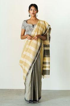 Urban Drape Yellow Reflections – Fashion Market.LK Handloom Saree, Silk Sarees, Saree Blouse, Sari, Formal Saree, Metallic Blouses, Mesh T Shirt, White Saree, Fashion Marketing