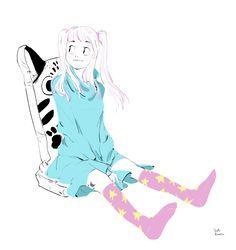 Yuki.Kawatsu  Illustration — 今日もお疲れ様でした☆  夜中にコッソリ_φ(・3・  明るい色つけると何だか目が覚める
