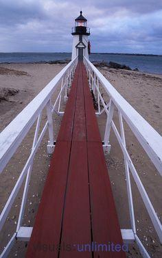 Brant Point Light lighthouse, Nantucket Island, Cape Cod, Massachusetts