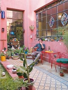 70 Ideas patio internos chicos for 2019 Mexican Interior Design, Small Space Interior Design, Outdoor Spaces, Outdoor Living, Outdoor Decor, Patio Chico, Adobe House, Tadelakt, Side Garden