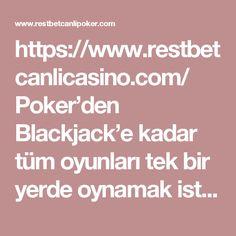 https://www.restbetcanlicasino.com/ Poker'den Blackjack'e kadar tüm oyunları tek bir yerde oynamak istiyorsanız, Restbet Canlı Casino adresi size bunları verecektir. #restbet
