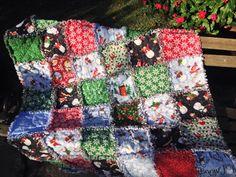 Snowman rag quilt Christmas rag quilt Let by BlueSheepBoutique