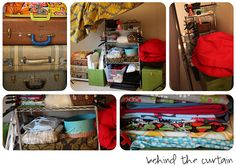 Studio thoughts/ideas/set-ups:  Behind the curtain - storing props