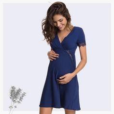 4d8136f35 Camisola para gestantes e período de amamentação Maternity and  breast-feeding