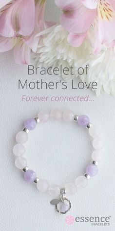 Beautiful and special gift for Mom! Essence Bracelets Healing Inspired Jewelry. Each bracelet is handmade by our energy healing practitioners with sterling silver and natural gemstones. Visit our whole collection of bracelets at http://www.essencebracelets.com/shop/