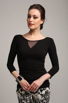 Siyah Kayık Yaka Bluz Modelleri