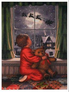 Lighted Canvas, battery operated softly blinking lights give the appearance of falling snow. more RAZ Lighted Canvas wall art available shelley b home and holiday Old Fashioned Christmas, Christmas Scenes, The Night Before Christmas, Christmas Past, Father Christmas, Winter Christmas, Xmas, Christmas Jesus, Magical Christmas