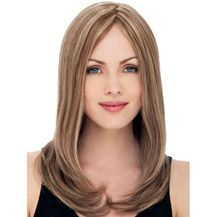 """12"""" Human Hair Lace Front Wig Straight Brown Highlight"""