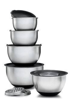 sagler stainless steel mixing bowls set of 5 with lids and 3 kind of graters - Bakeware Sets