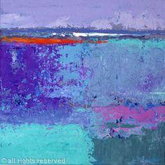 April, Distant Sea By UK painter SHEILA MARLBOROUGH