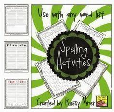 free spelling activities
