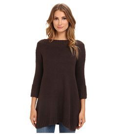 Free People Tricot Pullover Sweater Chocolate