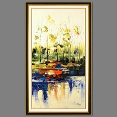"""Mani Signed Untitled 32"""" x 60"""" Original Oil Painting on Canvas (Framed to 41"""" x 69"""") at Pristine Auction"""