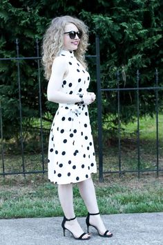 @lawyerlookbook Ann Taylor Belted Dot Dress