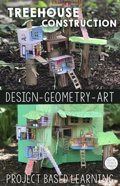 Some of the best houses having been created in the trees. Treehouse Construction is a project based learning activity that asks students to design to design and build a 3D version of their dream treehouse. Students can design a single room treehouse or create a multileveled mansion in the trees. This includes extra resource pages for story writing, math skills (geometry), and can be used in conjunction with many other subjects.