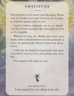 Angel Card: Gratitude