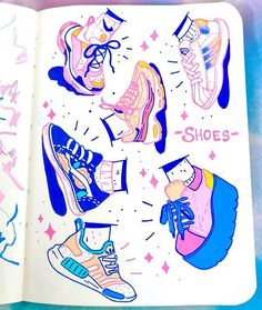 Working on filling up this mini sketchbook with tones of posca doodles! ✨✨… Working on filling up this mini sketchbook with tones of posca doodles! ✨✨ Also how cool r sneakers? I need more pastel ones tbh ✨… Doodle Inspiration, Sketchbook Inspiration, Sketchbook Ideas, Art Inspiration Drawing, Marker Art, Pen Art, Pretty Art, Cute Art, Posca Art