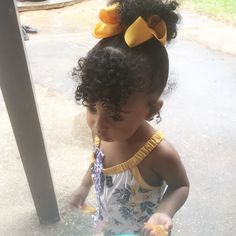Those curls though - Biracial hair - Baby Hair Black Toddler Hairstyles, Mixed Baby Hairstyles, Natural Hairstyles For Kids, Cute Hairstyles, Toddler Curly Hair, Black Little Girl Hairstyles, 4c Hair, Hair Dos, Curls Hair