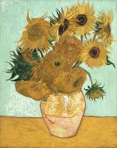 Still Life Vase with Twelve Sunflowers Vincent van Gogh art for sale at Toperfect gallery. Buy the Still Life Vase with Twelve Sunflowers Vincent van Gogh oil painting in Factory Price. Vincent Van Gogh, Art Van, Claude Monet, Flores Van Gogh, Desenhos Van Gogh, Vase With Twelve Sunflowers, Van Gogh Still Life, Van Gogh Flowers, Van Gogh Pinturas