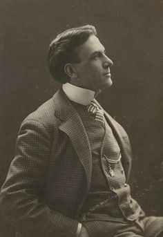 Captivatingly good looking Edwardian actor Scott Seaton sporting a natty checkered suit. (fiction) Joseph Camden of Stillwater Springs.