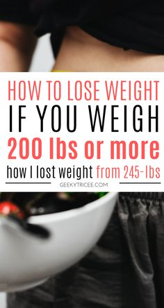 How to simply lose weight if you weigh 200 lbs or more 6 simple weight loss tips for losing weight if you weight over 200 lbs. My weight loss transformation started at 245 pounds. This is how started my weight loss transformation. // weight loss tips that Lose Weight Quick, Diet Food To Lose Weight, How I Lost Weight, Quick Weight Loss Tips, Weight Loss Help, Losing Weight Tips, Weight Loss Goals, Healthy Weight Loss, Reduce Weight