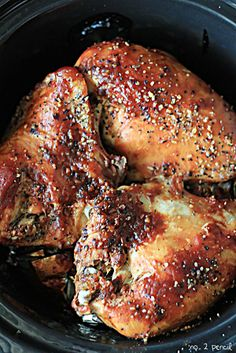 Slow Cooker BBQ Chicken# slow cooker healthy recipes