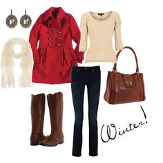 I want a red coat.  and boots.