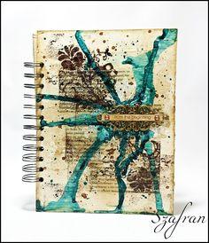 Szafranowe Twory: art journalowy sTworek :)