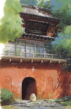 ☆ Studio Ghibli ☆ - Spirited Away scenery Art Studio Ghibli, Studio Ghibli Movies, Spirited Away Wallpaper, Studio Ghibli Background, Anime Places, Wallpaper Aesthetic, Japon Illustration, Anime Scenery Wallpaper, Estilo Anime