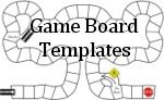 Printable templates for board games, bingo and other card games